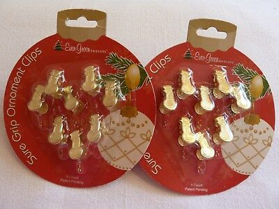Christmas Ornament Sure Grip Clips Hooks 16 Gold Snowmen For Trees & Wreaths