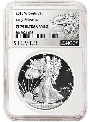 2018 W Silver Eagle Proof NGC PF70 UC - Early Releases - Liberty Label