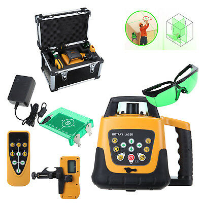 Self-leveling 360° Rotary Green Beam Laser Level 500M Range W/ Case 500M
