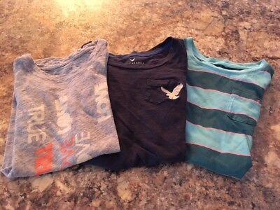Lot / Set 3 American Eagle AE Graphic T-Shirts Tees XS Extra Small 100% Cotton