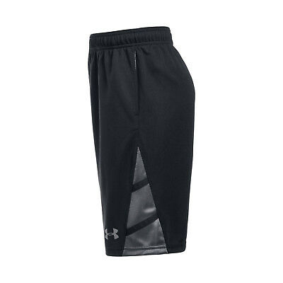 Under Armour Boys' Triple Double Basketball Shorts Size S Black Graphite $24.99