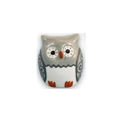 Our Name is Mud WISE OWL Ceramic Figurine Retired Few Left Great for Desk Hoot