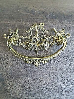 12 NEW Antique Style Cast Brass Ornate Handle Pulls Furniture Hardware P-34