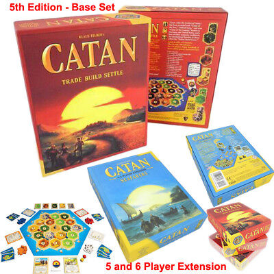 Catan 5th Edition Basic Settlers Set + Seafarers Extension Party Game Board Game