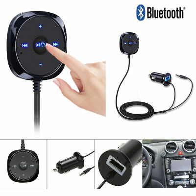 Bluetooth Receiver BT to Aux Adapter Car Audio Kit with 3.5mm Dongle USB Charger