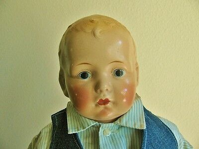 Antique Vintage 1923 Baby Horsman Composition Doll, 16""