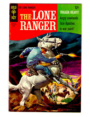 The LONE RANGER #10 in VF+ condition 1968 GOLD KEY Silver Age Western comic