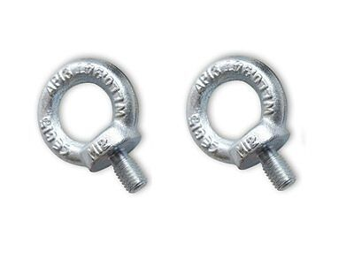 Lifting Eye Bolts 2 x 6mm Bright Zinc Plated Towing Bolts Lifting Gear