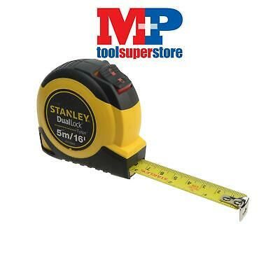 Stanley Tools 036806 Dual Lock Tylon Pocket Tape Measure 5m/16ft (Width 19mm)