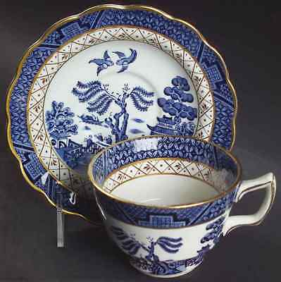 Booths REAL OLD WILLOW BLUE Oversized Cup & Saucer 6728056