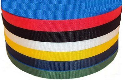 "10 meter x 40mm colour Polypropylene 1 1/2"" Webbing"