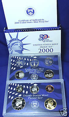 2000-s U.S. Proof Set. Complete and Original in BLUE  mint paper box