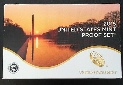 2015 U.S. CLAD 14 Coin Proof Set Complete 3 Sets. INV. 276