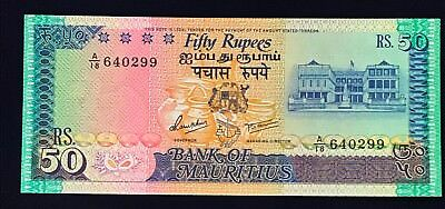 Mauritius 50 rupees 1986 Building with Flag - P37b - UNC