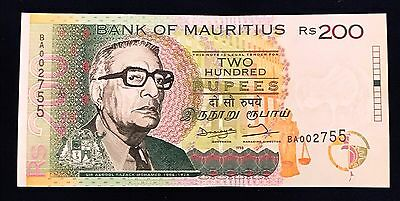 Mauritius 200 rupees 1998 Sir A. R. Mohamed - P45 - UNC