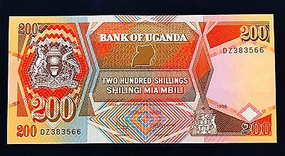 Uganda 200 shillings 1996 Coat of Arms - P32b - UNC