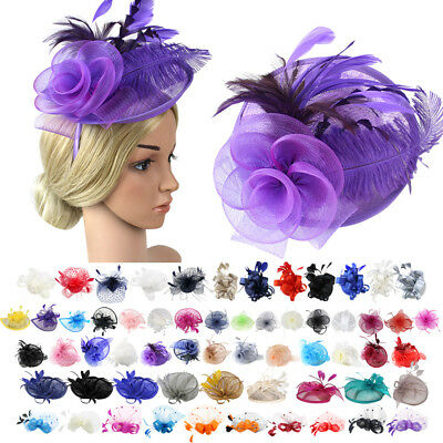 Vintage Women Sinamay Hairpin Fascinator with Cocktail Party Derby Wedding Hat