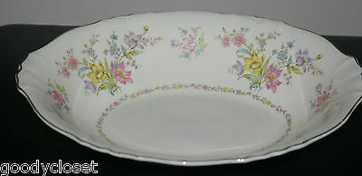 """Syracuse China Federal Shape Briarcliff 10 1/4"""" Oval Vegetable Serving Bowl"""