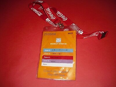 2008 League One Play Off Final Doncaster V Leeds Official Media Pass Ticket