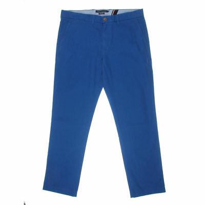 Tommy Hilfiger Men's Blue Twill Light Weight Cotton Custom Fit Chino Pants
