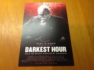 "Postcard 6""x4"" movie darkest hour Gary oldman"