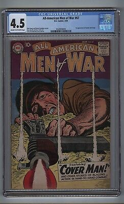 All-American Men of War 67 (CGC 4.5) C-O/W pages; 1st Gunner and Sarge (c#16756)