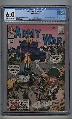 Our Army at War 113 (CGC 6.0) C-O/W p; 1st Wild Man and Jackie Johnson (c#16793)