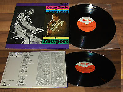LP Amiga 850076 Count Basie And Lester Young AT Newport Orchester DDR 1966