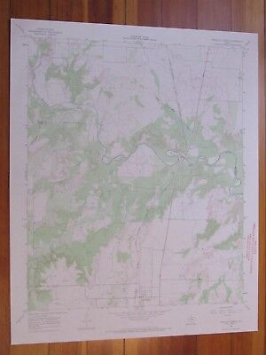 Truscott North Texas 1969 Original Vintage USGS Topo Map