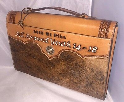 Wisconsin Pinto Horse Association 2013 All Around Youth Leather Horse Hair Bag