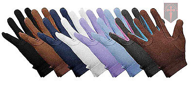 Kids Pair Horse Riding Saddlecraft Gripfast Gloves ( all colours and sizes