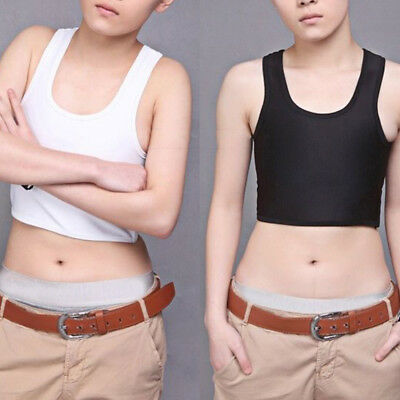 Lesbian Girl Tomboy Casual Buckle Short Chest Breast Binder Trans Shaper Bustier