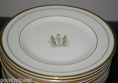 Lot Of 6 Syracuse China Governor Clinton Pattern Bread Dessert Plate-Gold Trim