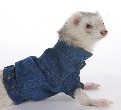 Marshall Pet Ferret Toy Dog Fashion Coat Light Blue Jean Jacket