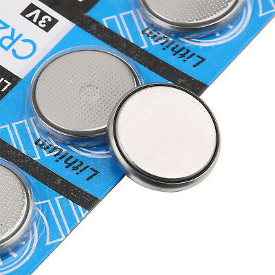 Newest 5Pcs Lots 3V Cell Batteries CR2032 3 Volt Coin Button Cell Battery Bulk