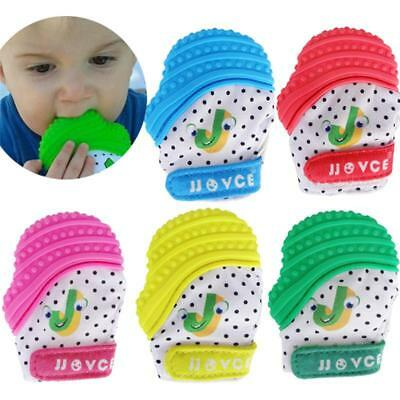 Silicone Baby Teething Glove Mittens Safety Easy Wash Chew Boy Girl Mitts LC