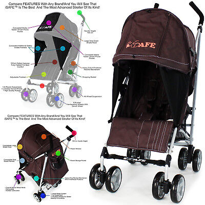 2018 iSafe Media Viewing - Hot Chocolate (Brown) Stroller Buggy Pushchair