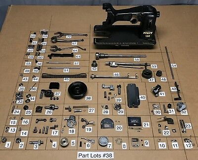 1954 Pfaff 130 6 Sewing Machine Parts Lots Repair Replacement Restore Original