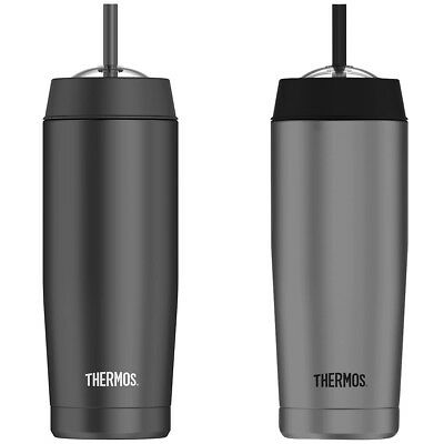Thermos 16 oz. Vacuum Insulated Stainless Steel Cold Cup with Straw