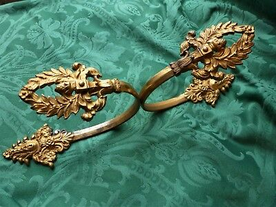 Antique Pair Of French Gilt Bronze Curtain  Hold Backs  1880