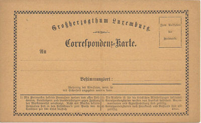 LUXEMBOURG:1874 Mint  Formular card (H&G 9a), heading 77 mm long.Very gd cond