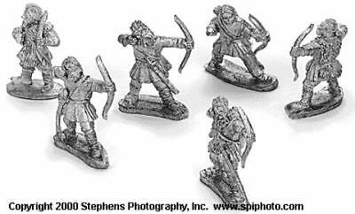 Old Glory Mongols in Europe 25 Eastern European Peasant Infantry w/Bo Pack MINT