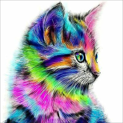 "Diamond Painting - Diamant Malerei - Stickerei - ""Katze"" - Set - Neu (654)"