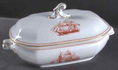 Spode TRADE WINDS RED Oval Covered Vegetable 687737