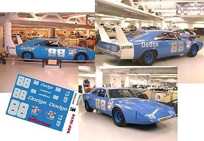 CD_1674 #88 Buddy Baker 1969 Dodge Charger Superbird   1:24 Scale Decals