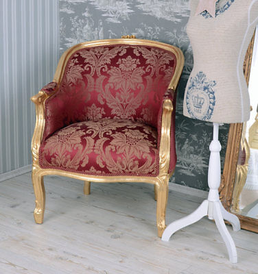 sessel barock stuhl shabby chic prunksessel weiss armlehnstuhl barocksessel eur 229 99. Black Bedroom Furniture Sets. Home Design Ideas