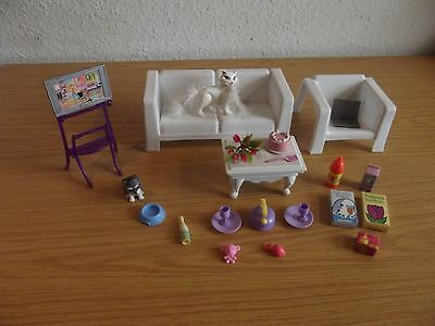 1997 barbie m bel wohnzimmer living room tv couch sofa. Black Bedroom Furniture Sets. Home Design Ideas