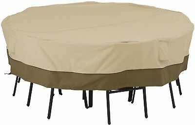 Classic Accessories Veranda? Square Patio Table and Chair Set Cover, Large