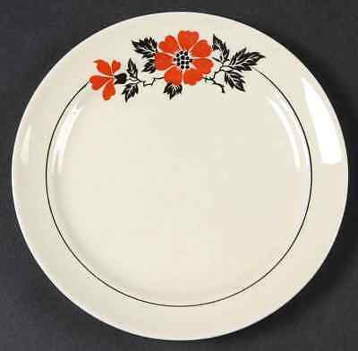 Hall RED POPPY Bread & Butter Plate 226752