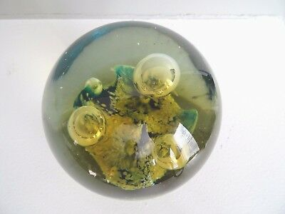 Magnum Hand Blown ART GLASS  Paperweight Abstract STORMY SEAS